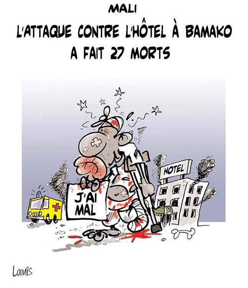 Mali: l'attaque contre l'hôtel à Bamako a fait 27 morts - Lounis Le jour d'Algérie - Gagdz.com