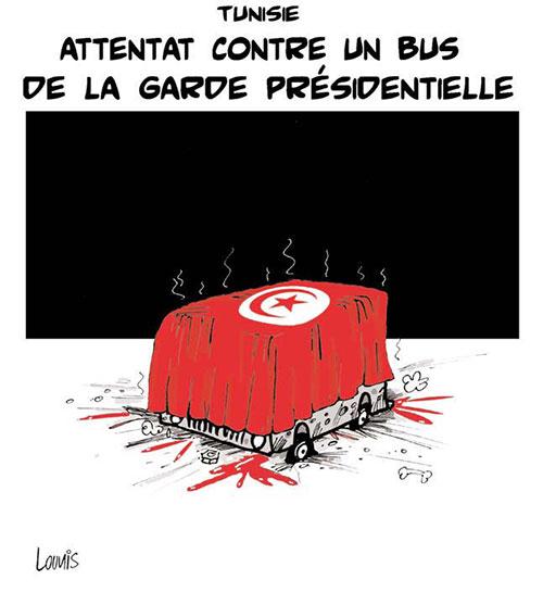 Tunisie: Attentat contre un bus de la garde présidentielle - Lounis Le jour d'Algérie - Gagdz.com