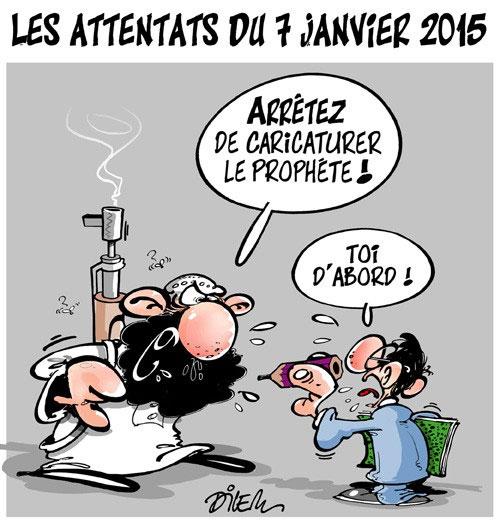 Les attentats du 7 janvier 2015 - Dilem - Liberté - Gagdz.com