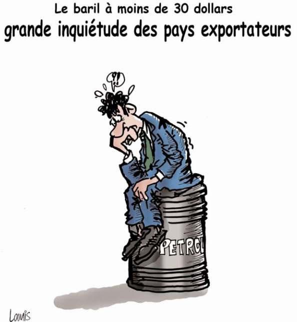 Le baril à moins de 30 dollars: Grande inquiétude des pays exportateurs - Lounis Le jour d'Algérie - Gagdz.com
