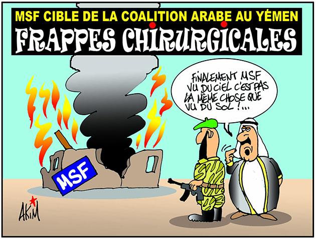 MSF cible de la coalition arabe au Yémen: Frappes chirurgicales - frappes - Gagdz.com