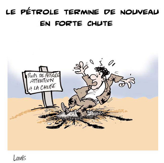 Le pétrole termine de nouveau en forte chute - Lounis Le jour d'Algérie - Gagdz.com