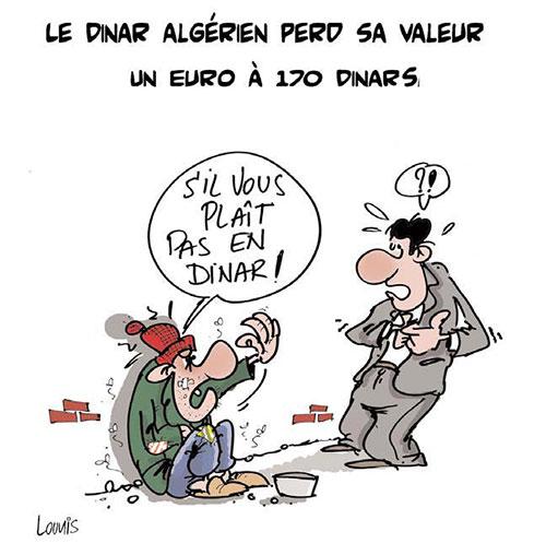 Le dinar algérien perd sa veleur: Un euro à 170 dinars - Lounis Le jour d'Algérie - Gagdz.com