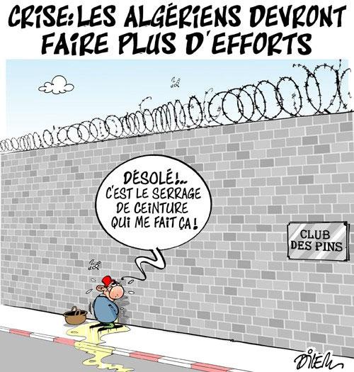 Crise: Les Algériens devront faire plus d'efforts - Dilem - Liberté - Gagdz.com