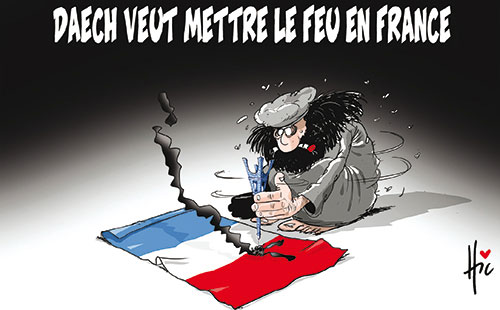 Daech veut mettre le feu en France - Le Hic - El Watan - Gagdz.com