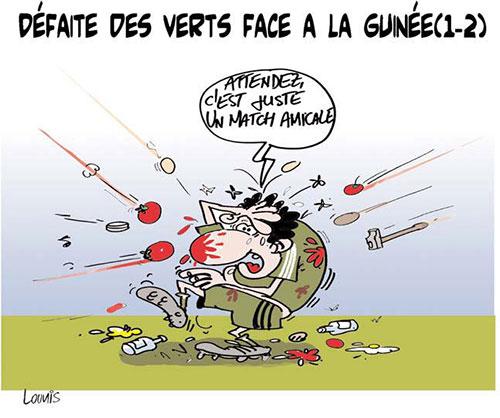 Défaite des verts face à la Guinée 1-2 - Lounis Le jour d'Algérie - Gagdz.com