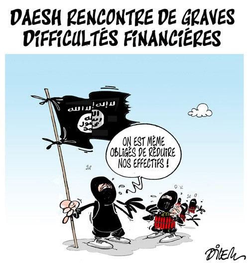Daesh rencontre de graves difficultés financières