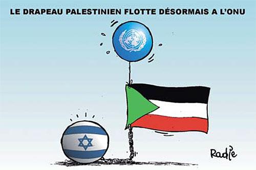 Le drapeau palestinien flotte désormais à l'onu - Ghir Hak - Les Débats - Gagdz.com