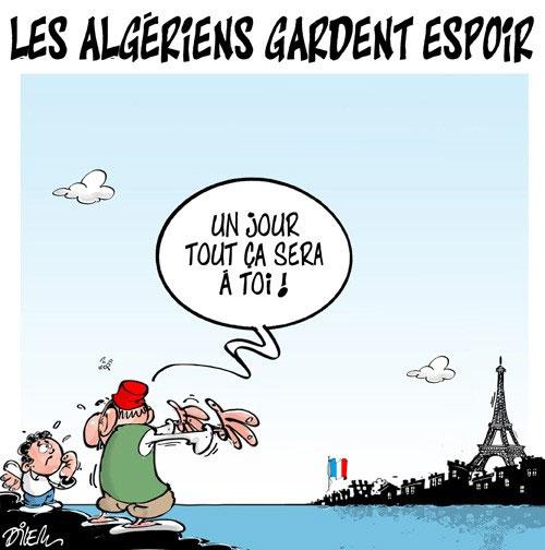 Les Algériens gardent espoir - Dilem - Liberté - Gagdz.com