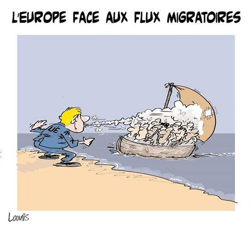 L'Europe face aux flux migratoires - Lounis Le jour d'Algérie - Gagdz.com