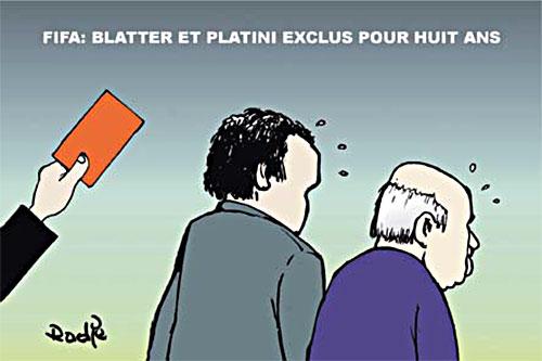 Fifa: Blatter et Platini exclus pour huit ans - Ghir Hak - Les Débats - Gagdz.com