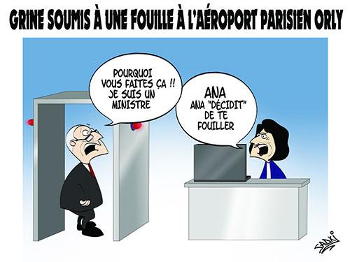 Grine soumis à une fouille à l'aéroport parisien Orly - Sadki - Le provincial - Gagdz.com