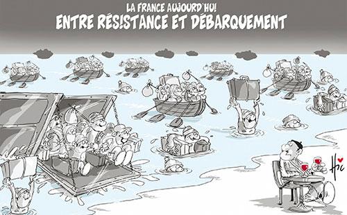 La France aujourd'hui: Entre résistance et débarquement - Le Hic - El Watan - Gagdz.com