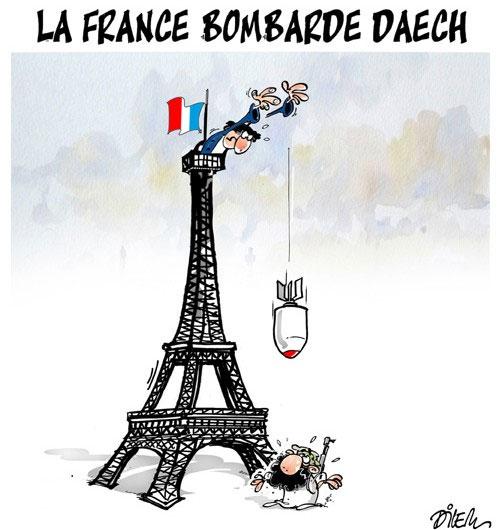 La France bombarde daech - Dilem - Liberté - Gagdz.com