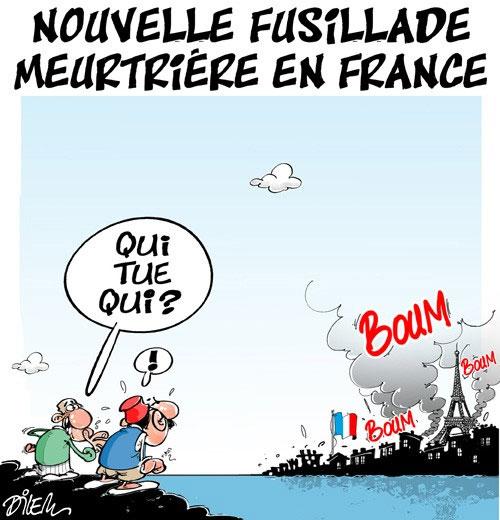 Nouvelle fusillade meurtrière en France - Dilem - Liberté - Gagdz.com