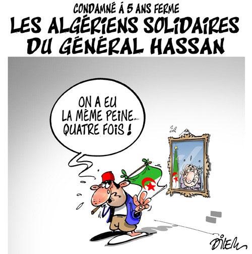 Condamné à 5 ans ferme: Les Algériens solidaires du général Hassan - Hassan - Gagdz.com