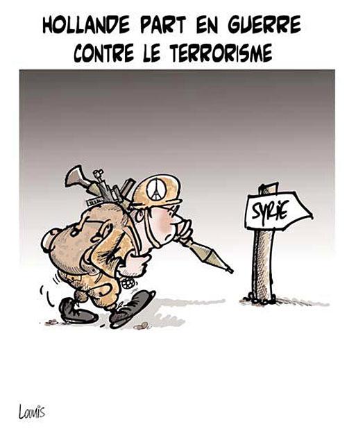 Hollande part en guerre contre le terrorisme - Lounis Le jour d'Algérie - Gagdz.com