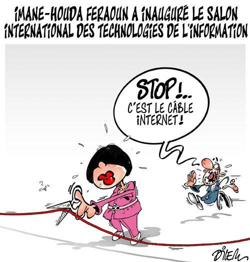 Iman-Houda Feraoun a inauguré le salon international des technologies de l'information - Dilem - Liberté - Gagdz.com