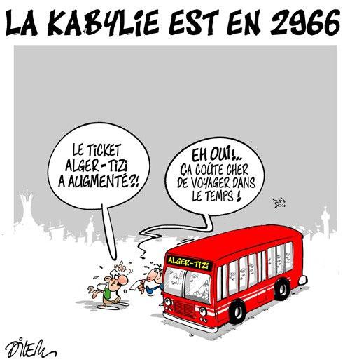 La kabylie est en 2966 - Dilem - Liberté - Gagdz.com