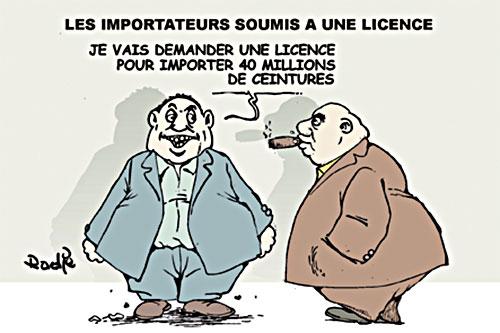 Les importateurs soumis à une licence - Ghir Hak - Les Débats - Gagdz.com