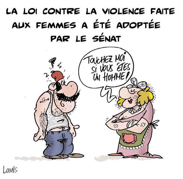 La loi contre la violence faite aux femmes a été adoptée par le sénat - Lounis Le jour d'Algérie - Gagdz.com