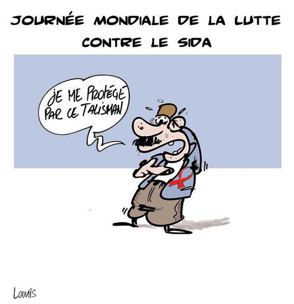 Journée mondiale de la lutte contre le sida - Lounis Le jour d'Algérie - Gagdz.com