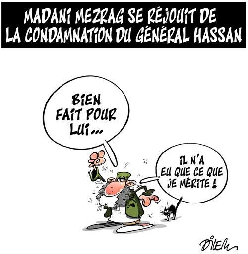 Madani Mezrag se réjuit de la condamnation du général Hassan - Dilem - Liberté - Gagdz.com