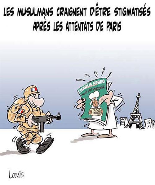 Les musulmans craignent d'être stigmatisés après les attentats de Paris - Lounis Le jour d'Algérie - Gagdz.com