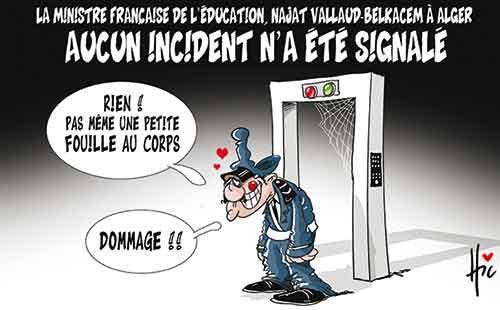 La ministre française de l'éducation, Najat Vallaud-Belkacem à Alger: Aucun incident n'a été signalé - Le Hic - El Watan - Gagdz.com