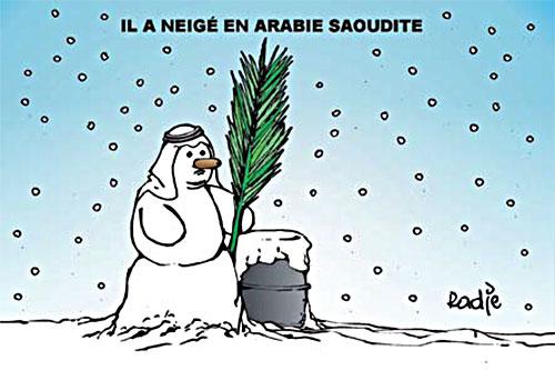 Il neige en Arabie Saoudite