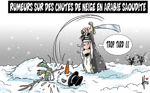 Rumeurs sur des chutes de neige en Arabie Saoudite