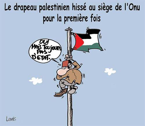 Le drapeau palestinien hissé au siège de l'onu pour la première fois - Lounis Le jour d'Algérie - Gagdz.com