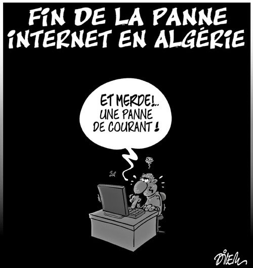 Fin de la panne internet en Algérie - Dilem - Liberté - Gagdz.com