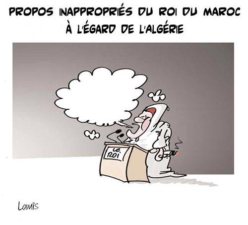 Propos inappropriés du roi du Maroc à l'égard de l'Algérie - Lounis Le jour d'Algérie - Gagdz.com