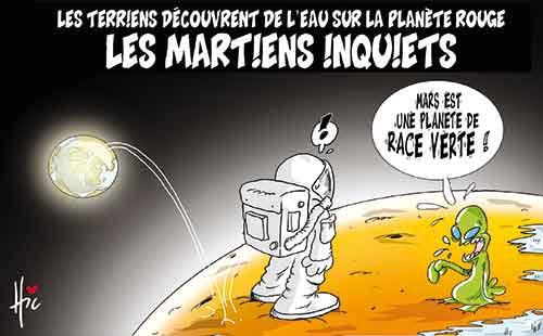Les terriens découvrent de l'eau sur la planète rouge: Les martiens inquiets - planète - Gagdz.com