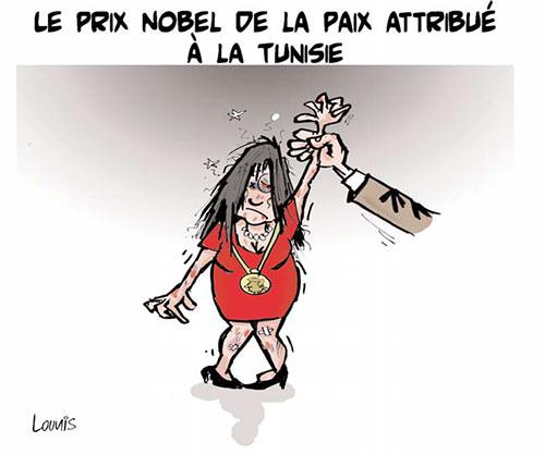 Le prix nobel de la paix attribué à la Tunisie - Lounis Le jour d'Algérie - Gagdz.com