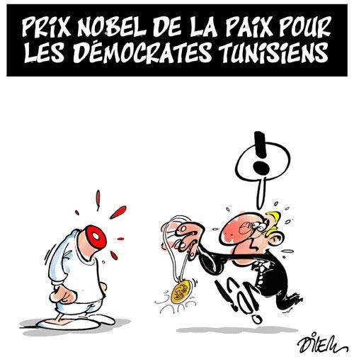 Prix nobel de la paix pour les démocrates tunisiens - Dilem - Liberté - Gagdz.com