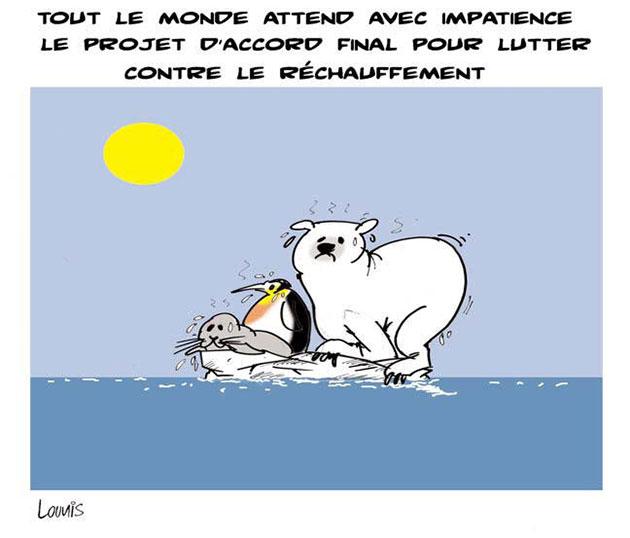 Tout le monde attend avec impatience le projet d'accord final pour lutter contre le réchauffement - Lounis Le jour d'Algérie - Gagdz.com