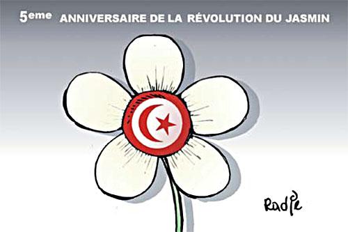 5ème anniversaire de la révolution du jasmin - révolution - Gagdz.com