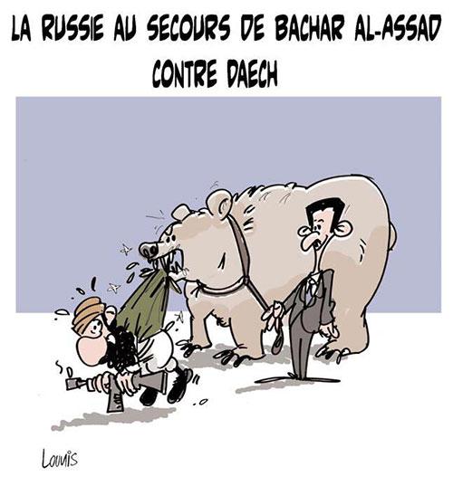 La Russie au secours de Bachar Al-Assad contre daech - Russie - Gagdz.com