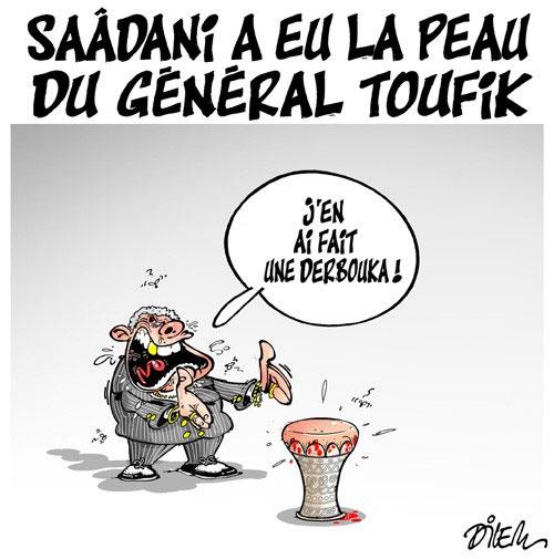 Saâdani a eu la peau du général Toufik - Dilem - Liberté - Gagdz.com