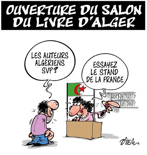 Ouverture du salon du livre d'Alger - Dilem - Liberté - Gagdz.com