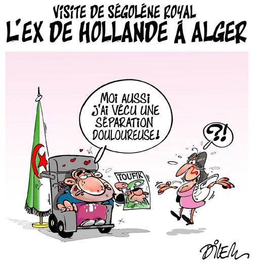 Visite de Ségolène Royal: L'ex de Hollande à Alger - Dilem - Liberté - Gagdz.com
