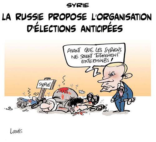 Syrie: La Russie propose l'organisation d'élections anticipées - Russie - Gagdz.com