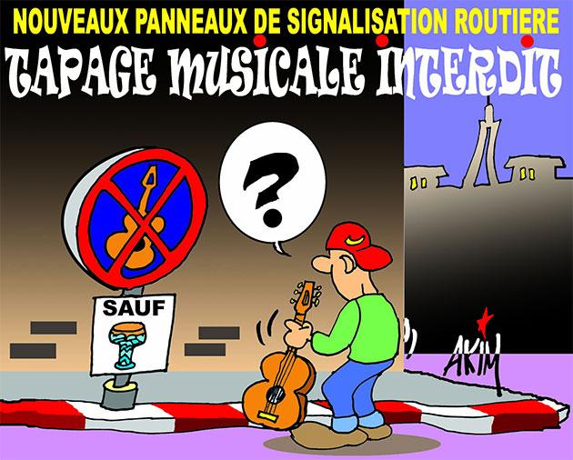 Nouveaux panneaux de signalisation routière: Tapage musicale interdit