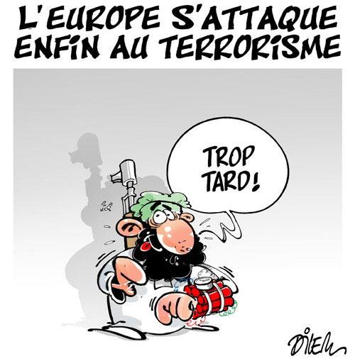 L'Europe une nouvelle fois frappée par le terrorisme - Dessins et Caricatures, Lounis Le jour d'Algérie - Gagdz.com