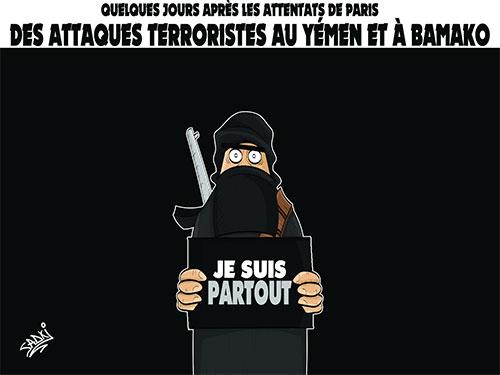 Le terrorisme a encore frappé - Dessins et Caricatures, Dilem - Liberté - Gagdz.com