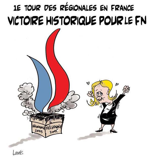 1er tour des régionales en France: Victoire historique pour le fn - Lounis Le jour d'Algérie - Gagdz.com