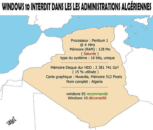 Windows 10 interdit dans les administrations algériennes - Sadki - Le provincial - Gagdz.com