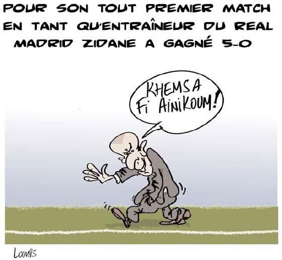 Pour son tout premier match en tant qu'entraîneur du real: Zidane a gagné 5-0 - Lounis Le jour d'Algérie - Gagdz.com